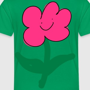 smiling pink flower - Kids' Premium T-Shirt