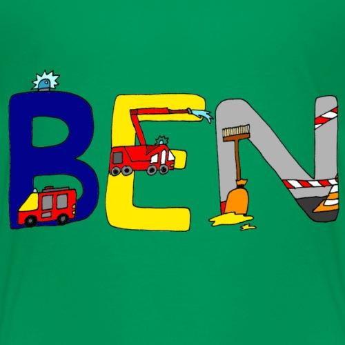 Feuerwehr Motiv Name Ben - Kinder Premium T-Shirt