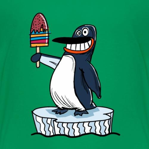 Funny Penguin Icecream Kids Smile: Penguin Ice - Maglietta Premium per bambini
