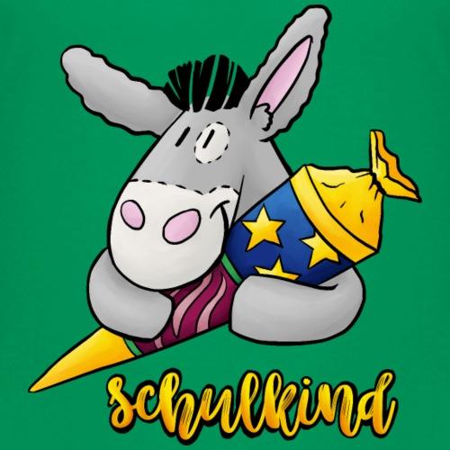 Schulkind - Esel mit Zuckertüte - Kinder Premium T-Shirt