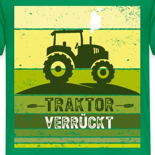 Traktor Trecker verrückt Geschenkidee - Kinder Premium T-Shirt