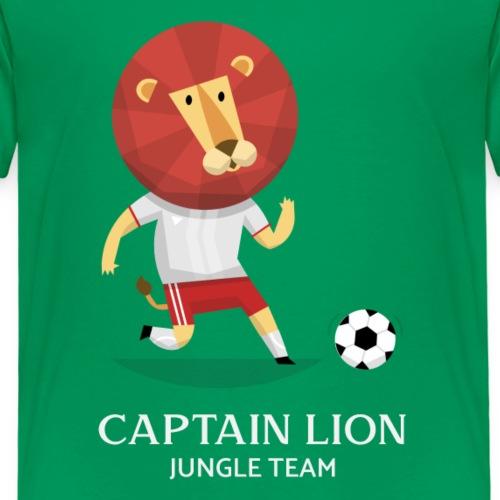 Captain Lion   Fútbol Leones   Humor - Camiseta premium niño