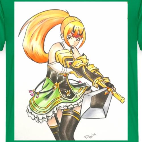 Ragazza manga guerriera - Maglietta Premium per bambini