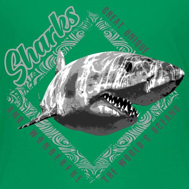 White Shark Cool Sea lovers Textiles, Gift ideas