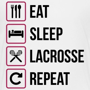 Eat Sleep Lacrosse Repeat - Teenager Premium T-Shirt