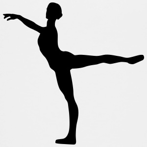 Vector Balletdanser Silhouet - Teenager Premium T-shirt