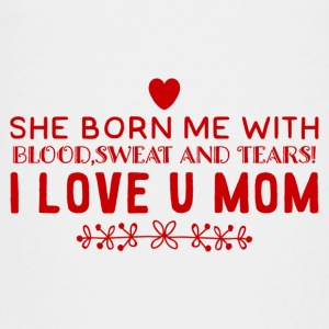 I Love You MOM - Teenage Premium T-Shirt