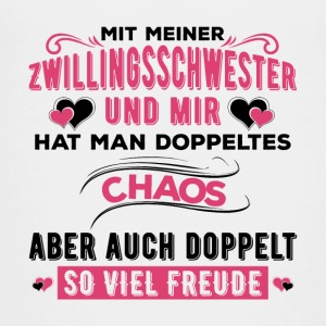 Zwillingsschwster Shirt Doppeltes Chaos - Teenager Premium T-Shirt
