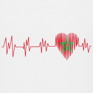 Morocco Morocco المغرب Heart pulse heart beat - Teenage Premium T-Shirt