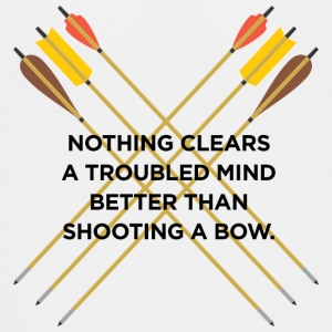 Nothing clears a troubled mind better than archery - Teenage Premium T-Shirt