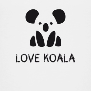 icon hipste leuke zwart-witte koala Save - Teenager Premium T-shirt
