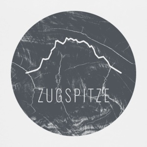 Zugspitze contour on wooden plate - Teenage Premium T-Shirt