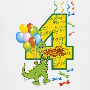 Fourth birthday 4 year old dragon - Teenage Premium T-Shirt