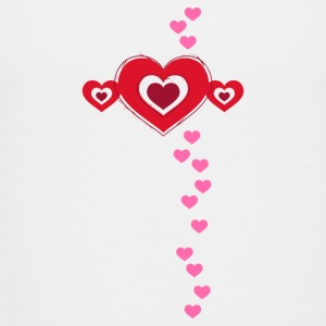 Valentine heart in love amour chance Flirt - T-shirt Premium Ado