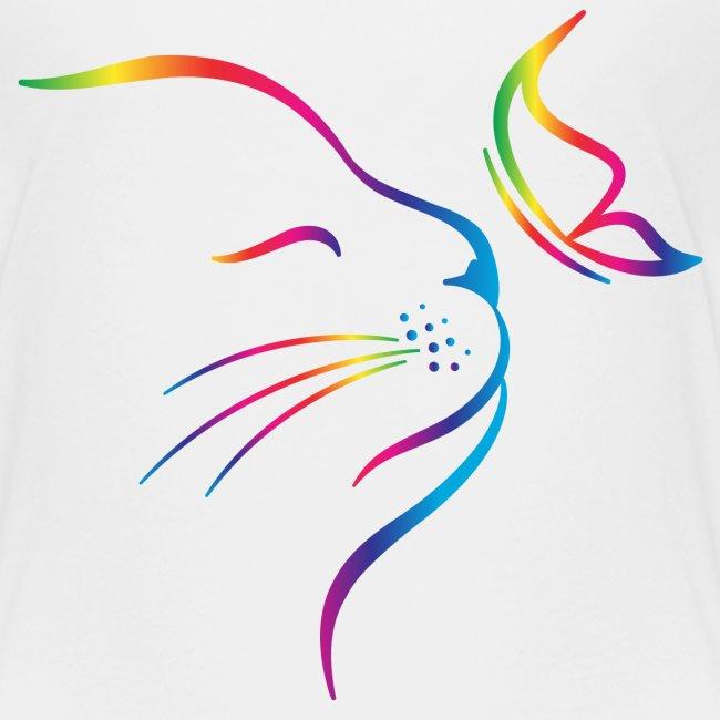 Vorschau: rainbow butterfly cat - Teenager Premium T-Shirt