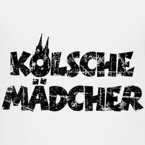 Kölsche Mädcher (Vintage Schwarz) Mädels aus Köln - Teenager Premium T-Shirt