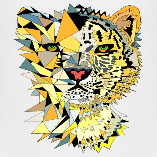 Leopard tiger cat animal - Teenage Premium T-Shirt