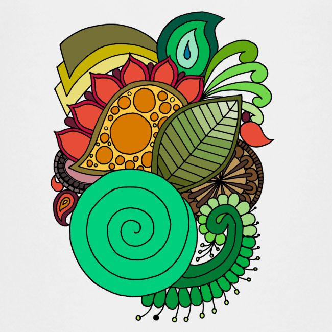 Coloured Leaf Mandala