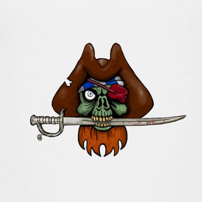 Zombie Pirate Skull