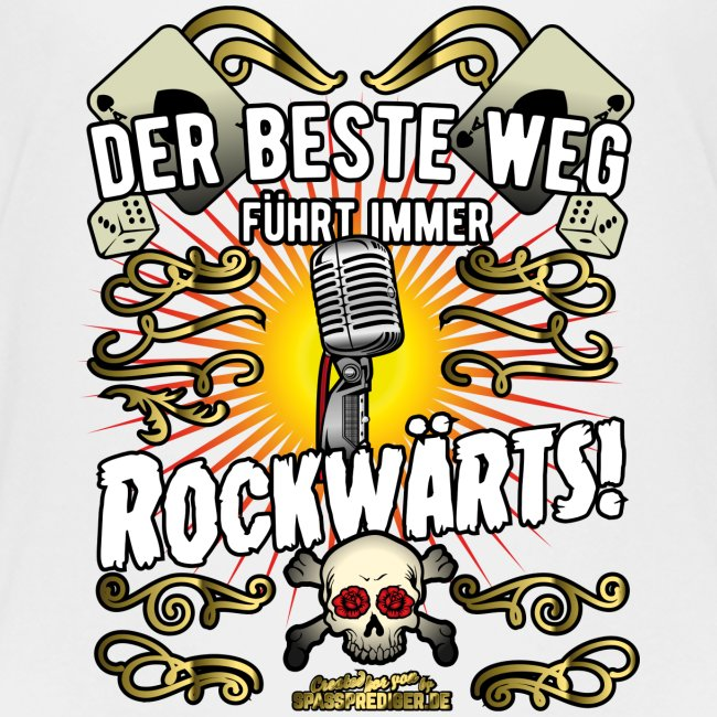 "Rock Music Shirt ""ROCKWÄRTS"""