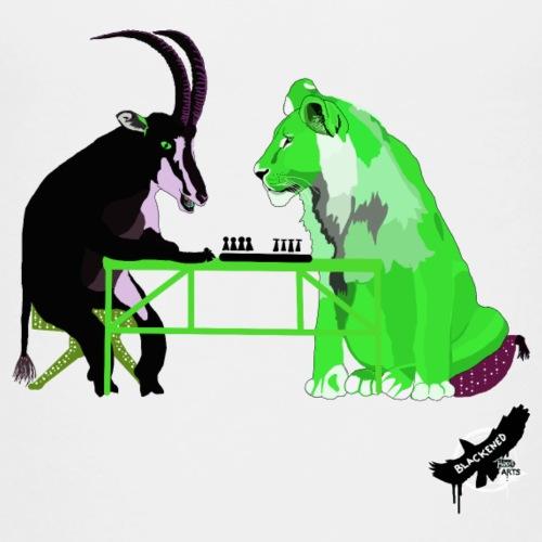 Playing Senet by BlackenedMoonArts, green w. logo - Teenager premium T-shirt