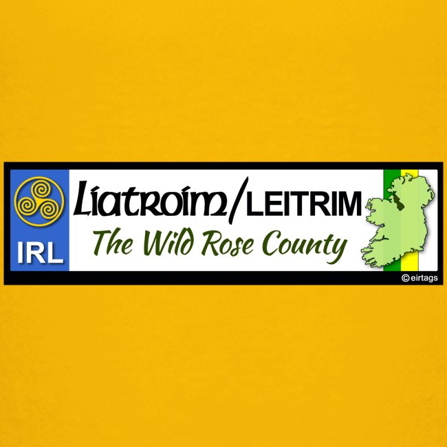 LEITRIM, IRELAND: licence plate tag style decal eu