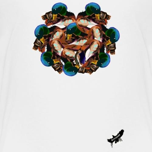 Mallard Duck Heap by BlackenedMoonArts, w. logo - Teenager premium T-shirt