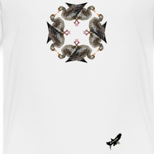 'Goose Circle' by BlackenedMoonArts - Teenager premium T-shirt
