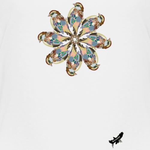 'Sparrow Mandala' by BlackenedMoonArts, w. logo - Teenager premium T-shirt