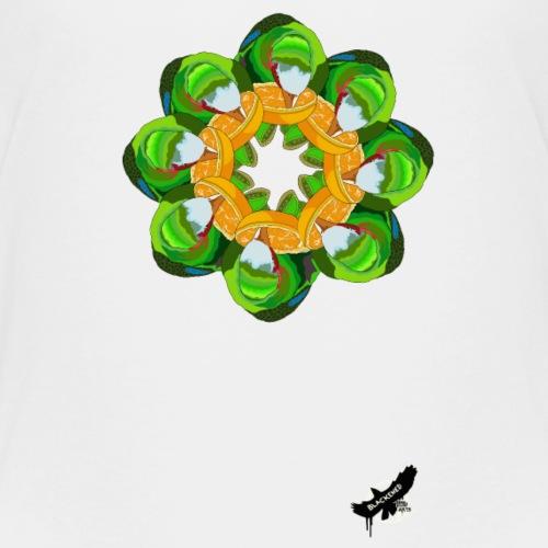 Parrot Pattern by BlackenedMoonArts, w. logo - Teenager premium T-shirt