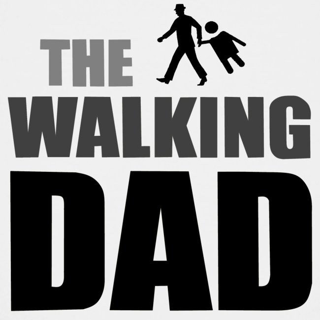 the walking dad auf dem Weg in die lustige Bar