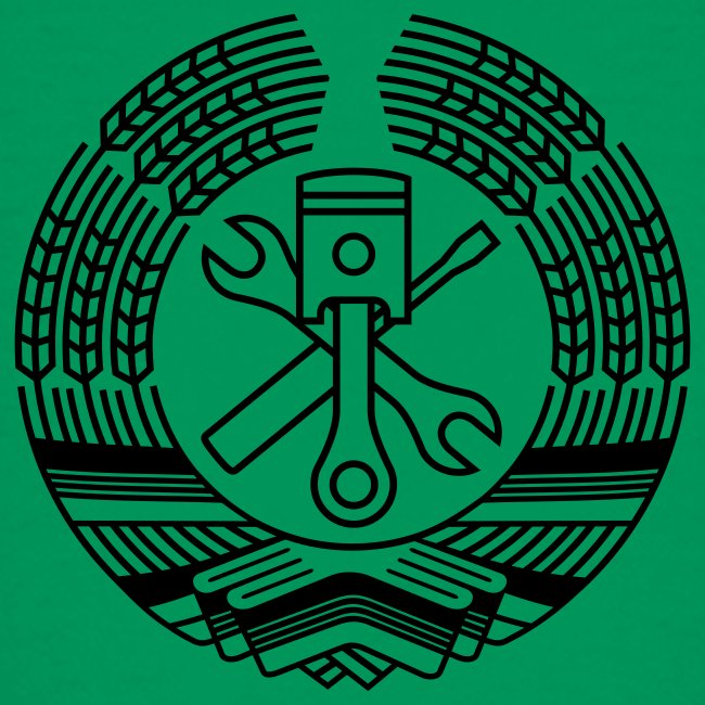 DDR Tuning Coat of Arms 1c (+ Your Text)