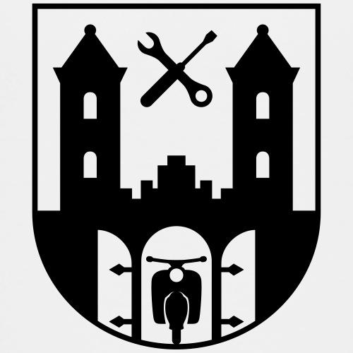 Simson Schwalbe - Suhl Coat of Arms (1c) - Teenage Premium T-Shirt