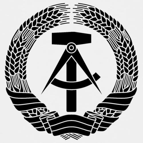 DDR Wappen (schwarz) - Teenage Premium T-Shirt