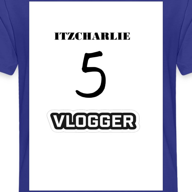 ITZCHARLIE TEAM 5 VLOGGER TEENAGE PREMIUM T-SHIRT