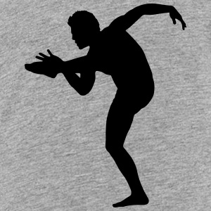 Vector Balletdanser Silhuet - Teenager premium T-shirt