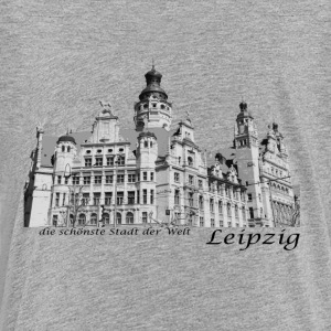 Leipzig City Hall med signaturen - Premium-T-shirt tonåring