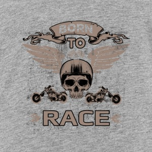 FØDT til race! - Teenager premium T-shirt