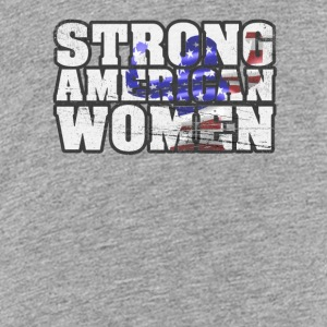 Strong American Women - Teenage Premium T-Shirt