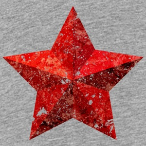 Red Star Red Star Christmas grunge flag - Teenage Premium T-Shirt