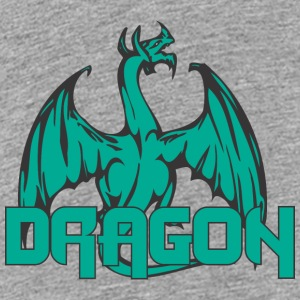 dragon back colored - Teenage Premium T-Shirt