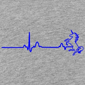 ECG HEART LINE INHORN blue - Teenage Premium T-Shirt