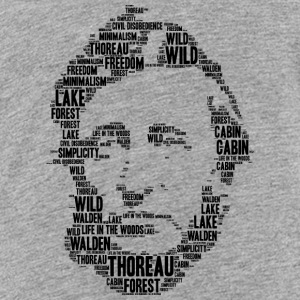Thoreau Schablone Wortwolke - Teenager Premium T-Shirt