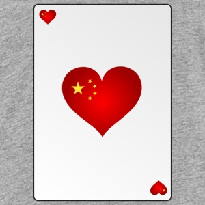 Card China Heart Ass Heart - Teenage Premium T-Shirt