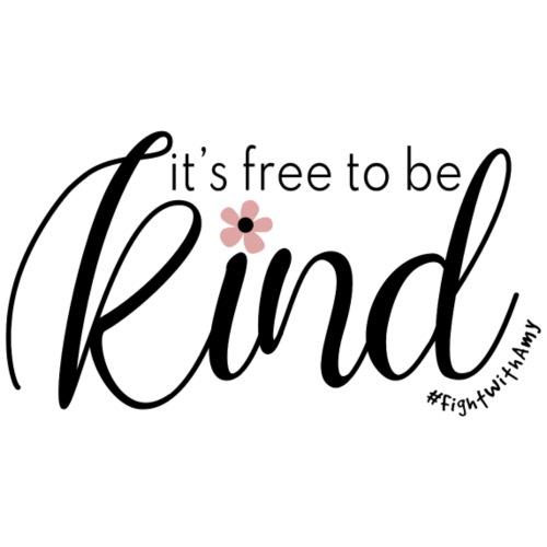 Amy's 'Free to be Kind' design (black txt) - Teenage Premium T-Shirt