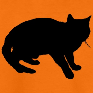 Conception de vecteur de silhouette de chat - T-shirt Premium Ado