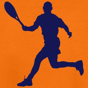 Tennis player silhouette 4 - Teenage Premium T-Shirt