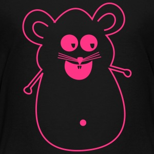 Mouse pink silhouette - Teenage Premium T-Shirt