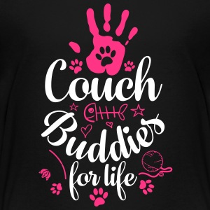 Cat Cat sofa venner - Teenager premium T-shirt
