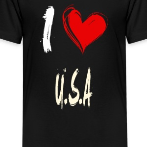 I love USA - T-shirt Premium Ado